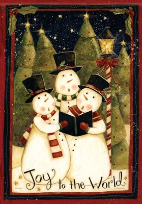 Joy to the World Snowmen Flag, Small  -
