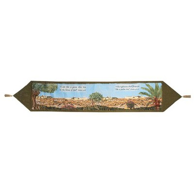 Trees of Jerusalem Tapestry Table Runner   -