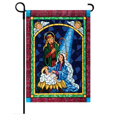 Mosaic Nativity Flag, Small  -