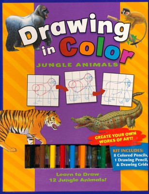 Drawing In Color: Jungle Animals  -