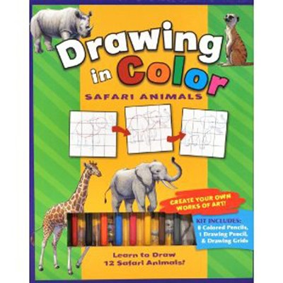 Drawing in Color: Safari Animals   -