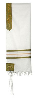 Boaz Tallit Set 50 Wool /Matching Velvet Bag   -