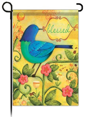 Blessed Bird Flag, Small  -     By: Karla Dornacher
