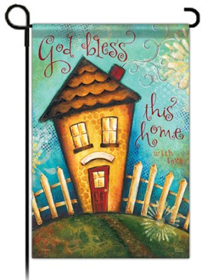 God Bless This Home with Love Flag, Small  -     By: Karla Dornacher