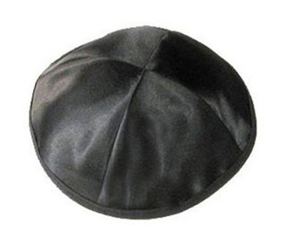 Black Satin Kippah   -