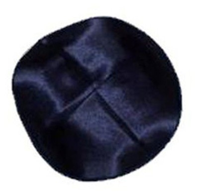 Blue Satin Kippah   -
