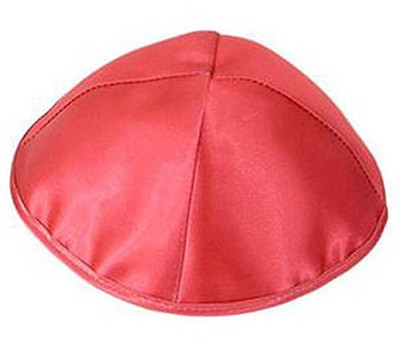 Red Satin Kippah   -