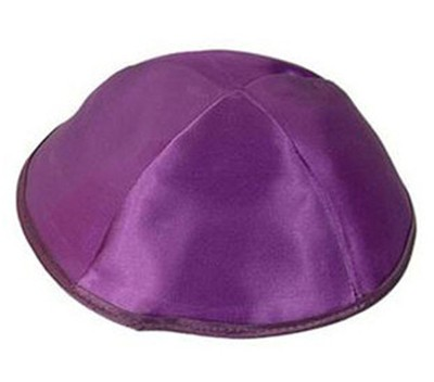 Purple Satin Kippah   -