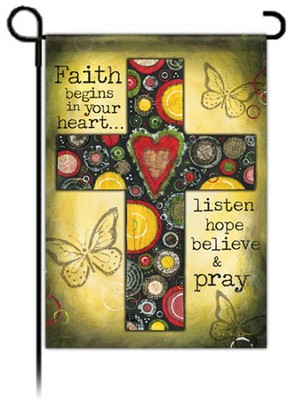 Believe and Pray Flag, Small  -     By: Robin Davis