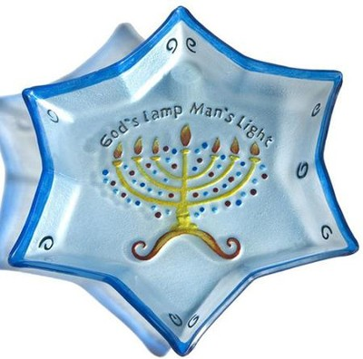 Star of David Glass Plate   -