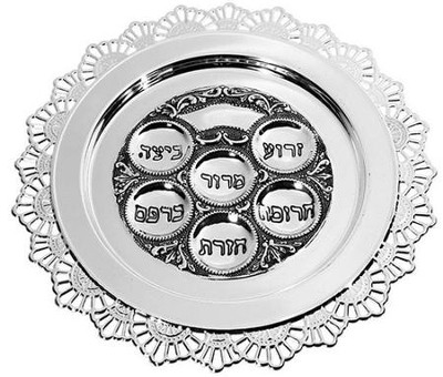 Passover Plate Pewter   -