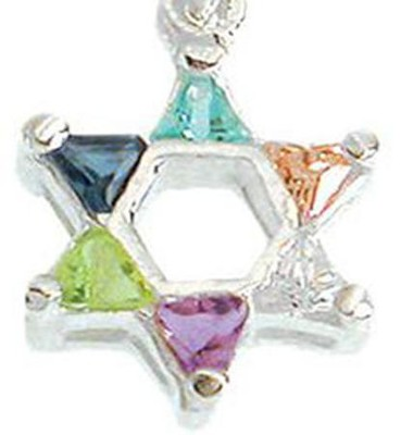 Star of David Necklace, Zirconia   -