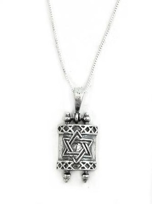 Torah Scroll Necklace   -