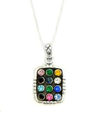 Breastplate Corded Multi Zirconia Pendant   -