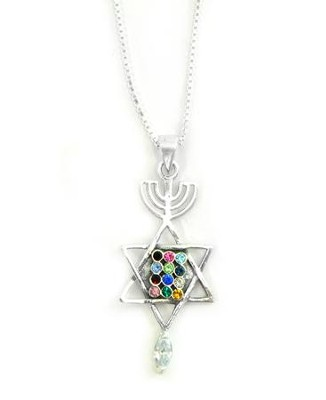 Messianic Seal with Breastplate Necklace   -
