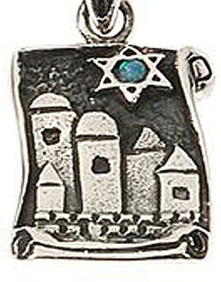 City of Jerusalm w/Star of David Necklace   -
