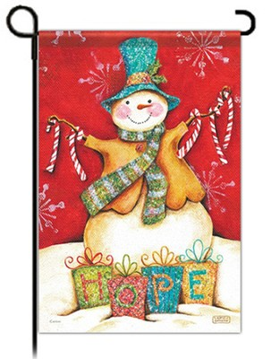 Christmas Hope Garden Flag, Snowman   -     By: Karla Dornacher