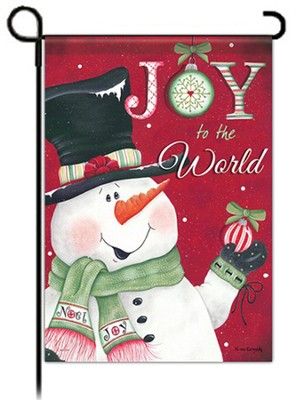 Joy to the World Snowman Flag, Garden Size   -     By: Lisa Kennedy