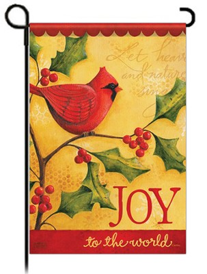 Joy to the World Garden Flag, Cardinal   -     By: Karla Dornacher
