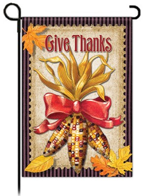 Give Thanks Garden Flag, Maize Bouquet  -     By: Paula Joerling