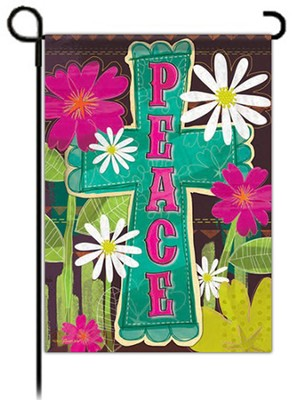 Peace Cross Flag, Garden Size  -