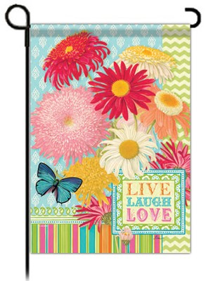 Live, Love, Laugh Flag, Garden Size  -     By: Tina Higgins