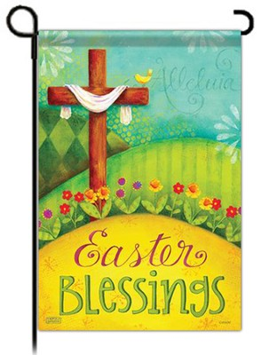 Easter Blessings, Small Flag  -