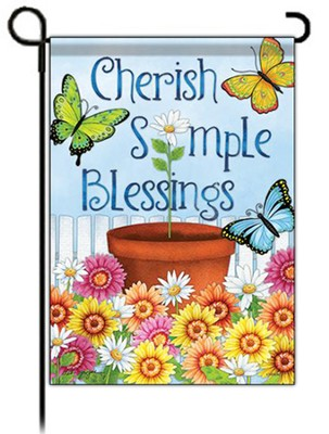 Cherish Simple Blessings, Small Flag  -