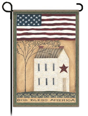 God Bless America Flag, Garden Size  -     By: Cindy Shamp