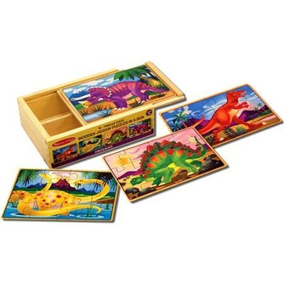 Dinosaurs Puzzles in a Box  -     By: Melissa & Doug