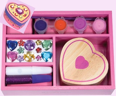 Heart Box, Decorate Your Own   -     By: Melissa & Doug