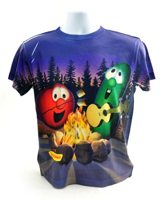 Veggie Campfire Shirt, Youth Large  -