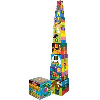 Alphabet Nesting & Stacking Blocks  -     By: Melissa & Doug