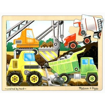 Construction Site Jigsaw Puzzle (12 pc)   -     By: Melissa & Doug