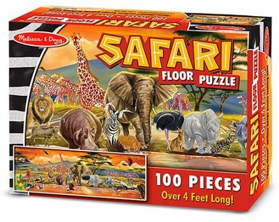 Safari Floor Puzzle Floor (100 pc)  -     By: Melissa & Doug