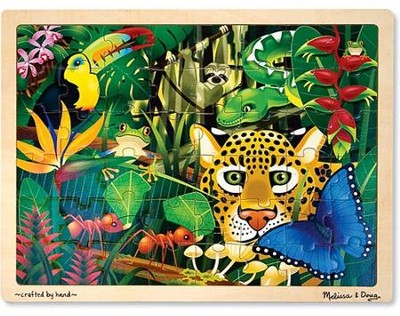 Rainforest Jigsaw Puzzle (48 pc)   -     By: Melissa & Doug