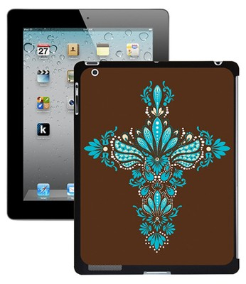 Cross iPad 2 Case, Brown and Blue  -