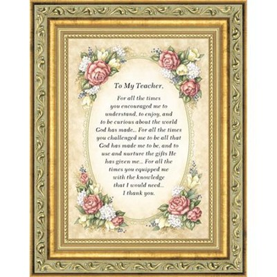 Teacher, Thank You, Framed Gift   -     By: Kathy Seek