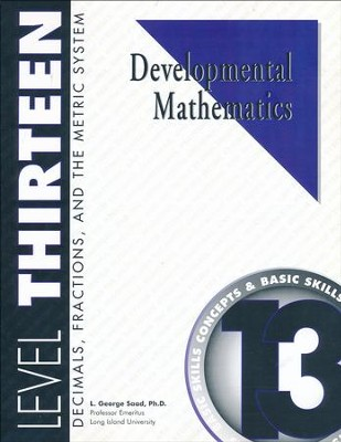 Developmental Math, Level 13, Student Workbook   -     By: L. George Saad