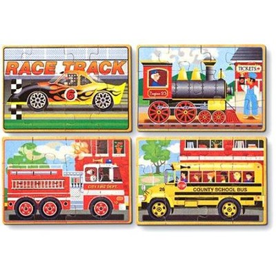Vehicle Puzzles in a Box  -     By: Melissa & Doug
