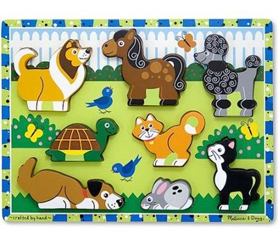Pets Chunky Puzzle  -     By: Melissa & Doug