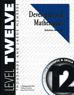 Developmental Math, Level 12, Solution Manual   -     By: L. George Saad