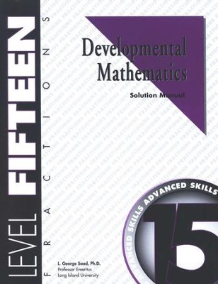 Developmental Math, Level 15, Solution Manual   -     By: L. George Saad