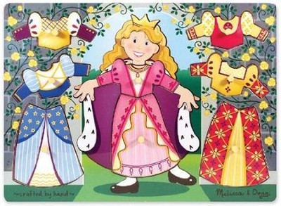 Princess Dress-Up Mix 'n Match Peg Puzzle   -     By: Melissa & Doug