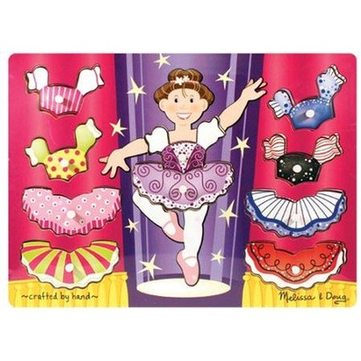Ballerina Dress-Up Mix 'n Match Peg Puzzle   -     By: Melissa & Doug