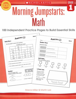 Morning Jumpstarts, Math Grade 1: 100 Independent Practice Pages to Build Essential Skills  -     By: Martin Lee, Marcia Miller
