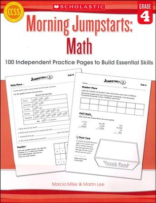 Morning Jumpstarts, Math Grade 4: 100 Independent Practice Pages to Build Essential Skills  -     By: Martin Lee, Marcia Miller