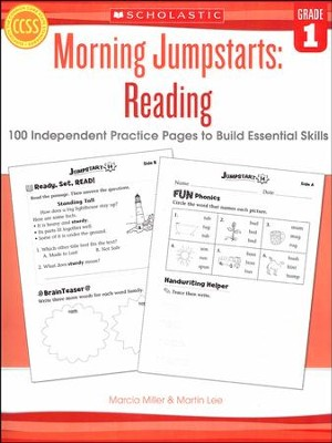 Morning Jumpstarts, Reading Grade 1: 100 Independent Practice Pages to Build Essential Skills  -     By: Martin Lee, Marcia Miller