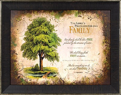 The Lord's Promises for Family Framed Print  -