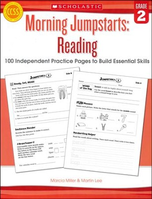 Morning Jumpstarts, Reading Grade 2: 100 Independent Practice Pages to Build Essential Skills  -     By: Martin Lee, Marcia Miller